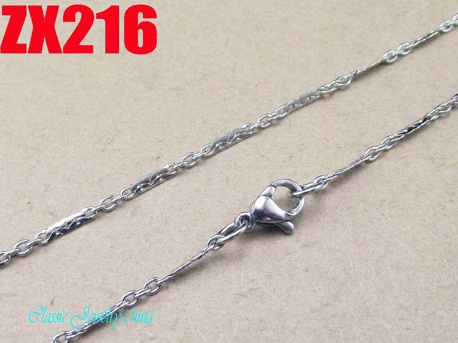 Buena calidad 2mm collar de cadena de acero inoxidable 316L 16 '', 18 '', 20,22,24,26,28,30,32,34inch / cadenas de moda suéter de las mujeres