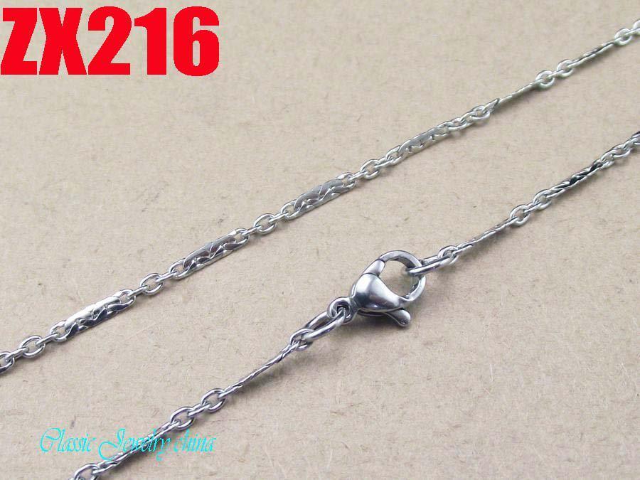 Gute Qualität 2mm Edelstahl-Flockenkette 316L Halskette 16 '', 18 '', 20,22,24,26,28,30,32,34inch Art- und Weisestrickjackeketten der Frauen /