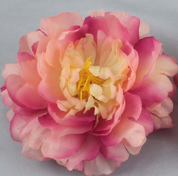 Wholesale Beautiful Flower Clips - 20pcs lot New Beautiful Peony Artificial Flower For Making Jewelry Hair Clips Craft Flowers Petals Garlands