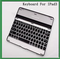 Wholesale Bluetooth Keyboard 78 - For ipad air 78 keyboard Bluetooth Wireless Keyboard Case For iPad 2 3 4 with stand sleep model