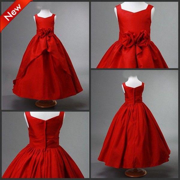 Red Baby Flower Girl Dresses
