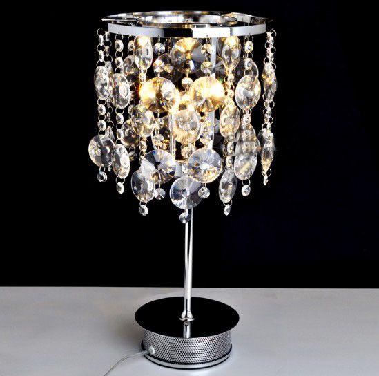 See larger image. Best Modern Minimalist K9 Crystal Table Lamp Lights Living Room