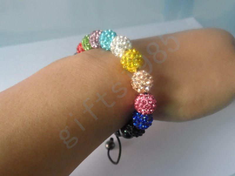 Armbänder Bling Stone Pave Clay Ball Shambala Armbänder mit Hämatit Perlen Stretch Armbänder