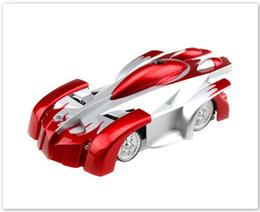 Wholesale Wall Climber Cars - RC WALL CLIMBER CAR Remote Control Wall Floor Climbing Racing Cars Toy Blue Red Black Electric toys