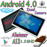 "Wholesale Tablet Wholesale Market - 10pcs 7"" Haipad A13 Q88 Q8 Dual camera Android 4.0 Tablet pc Capacitive multi touch Allwinner market"