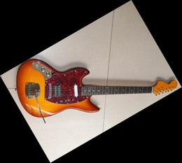 Wholesale Electric Guitar Jaguar Sunburst - High Quality Jaguar 6 Strings electric guitar sunburst in left handed free shipping12 07 15