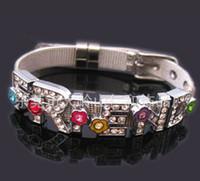 Wholesale Special Order Bracelets - special order of 50pcs 8mm steel slide wristband bracelet and 500pcs assorted 8mm slide letter