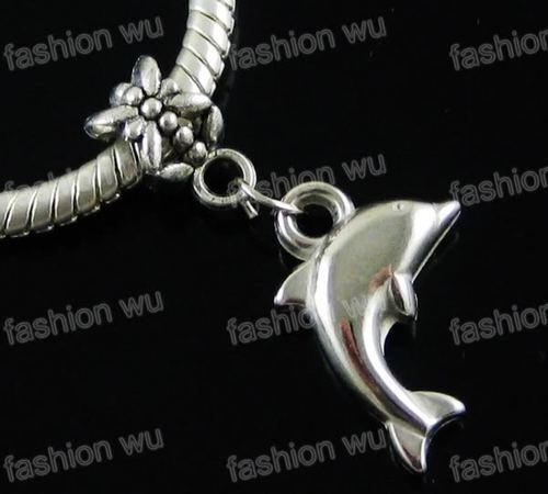 CCB Lovely Dolphin Charm Big Hole Beads Venta caliente 150 unids / lote Fit European Pulseras Jewelry DIY