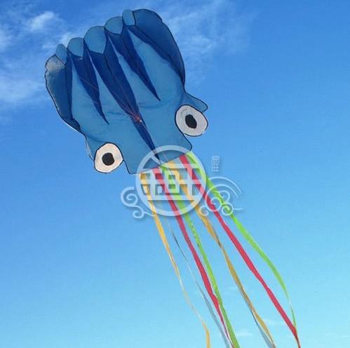5,5 m de linha única Stunt azul Octopus POWER Sport kite A ++