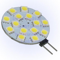 Wholesale marine room - 1pcs lot G4 5050 SMD 15 LED Camper RV Cabinet Marine Boat Light Bulb Pure White for sample free shipping