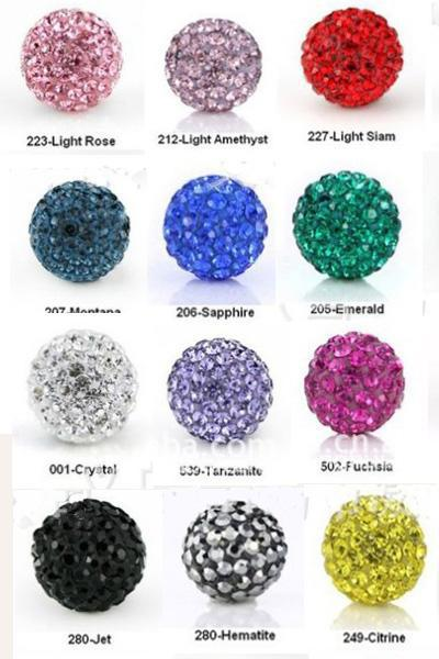 top popular Hot shamballa 10mm Disco Pave Balls Handmade Bracelets Crystal Beads Jewelry top quality 100pcs 2021
