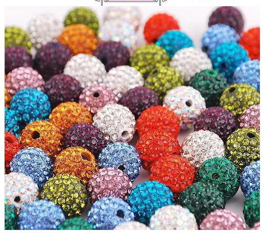 Top quality 12MM shamballa Crystal DIY Clay Spacer Beads FOR Pave Rhinestone Disco Balls Beads 100pc
