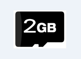 Wholesale Genuine Micro Sd - 2GB Micro SD SDHC TF Flash Memory Card, 2 GB genuine new Cards with adapters, 100pcs lot, free DHL