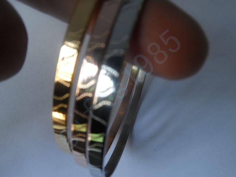 Jul bra present till en vän, rostfritt stål trefärgade armbandskombination