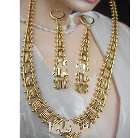 yellow gold necklace set images