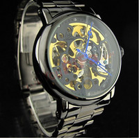 Wholesale Digital Watches Water Proof - Black Automatic mechanical watches stainless steel Wristwatch Watches water-proof 110g NBW0ME7031