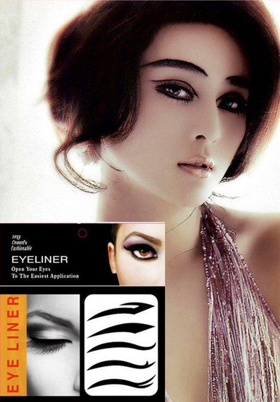 Eyeliner is stuck 100ps Eyeliner Tattoo Sticker Temporary Tansfer Cat Wing Indian Arabic Vintage Sticker Rave Punk GAGA