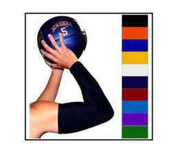 Wholesale Basketball Elbow Bands - NEW! Basketball Shooting Arm Sleeve SHOOTING SLEEVE WHITE ARM BAND BASKETBALL