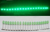 velas verdes vermelhas-amarelas venda por atacado-Luz do diodo do diodo emissor de luz de 3000-4000mcd 5mm para o verde conduzido 1000pcs da exposição