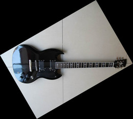 Wholesale Fretboard Inlays - Wholesale 2012 03 15 Best SG g400Model electric guitar ebony fretboard cross inlay black