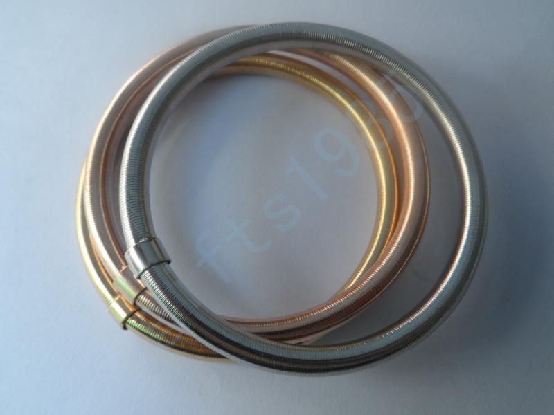 Combinación de pulsera de tres tonos de acero inoxidable de alto sabor, la Sra. Regalo, patrón de primavera