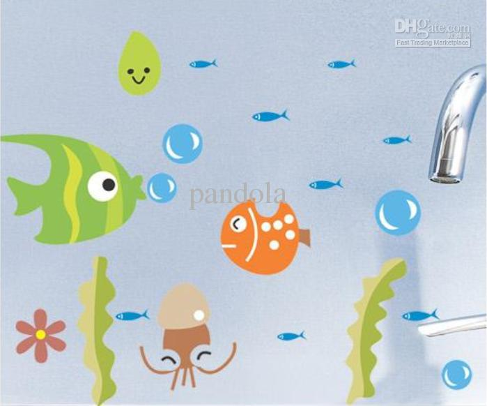 Nursery Room Wall Decals Baby Room Pvc Fish Carton Wall Stickers - Baby room wall decals