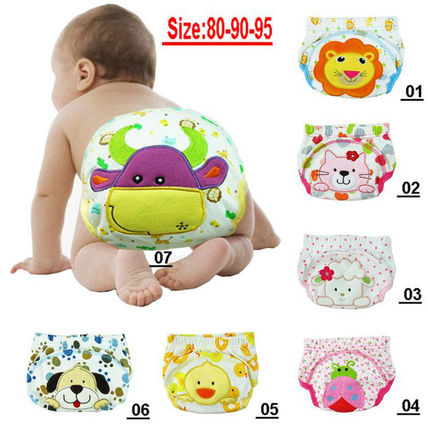 top popular Christmas Gift Animal Baby waterproof Potty training Pants Toddler Leaning Pants 36pc Sz 80-90-95 choose free 2021