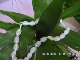 Wholesale Moonlight Necklace - Quality grade of Brazil white Moonstone Necklace dolphin moonlight