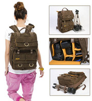 Wholesale Waterproof Rucksack Laptop - Rush R6702 Waterproof DSLR SLR Bag Canon Nikon Canvas Camera Rucksack Backpacks 15'' Laptop Bag