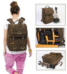 Wholesale Dslr Camera Bag Backpack - Rush R6702 Waterproof DSLR SLR Bag Canon Nikon Canvas Camera Rucksack Backpacks 15'' Laptop Bag