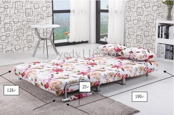 무료 배송 폴리 에스테르 천 소파 - 침대 현대적인 스타일의 꽃 패턴 DS010 D2