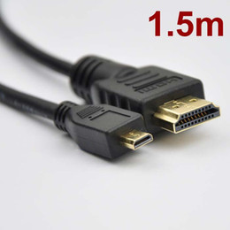 Wholesale Android D - 1.5m 5ft High Speed HDMI to Micro HDMI Type A D Cable Cord for Android Phones Hero H6000 V1277 V12