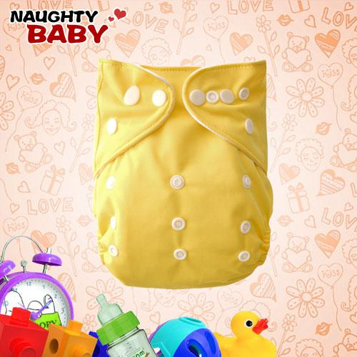 Baby Diapers New Naughtybaby cloth diaper reuseable yellow color 10 nappy covers+10 inserts Baby Product
