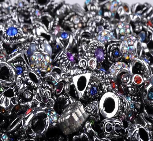 100pcs Loose Beads For Pandora Jewelry Silver Plated For European Bracelet Findings Wholesale Free Ship [BD126*100]