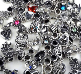 Wholesale Wholesale Dangle Charms Free Shipping - 100pcs lot Beads For Pandora Charms Dangle Pendant Tibetan Silver Beads Jewelry Findings Free Ship [BD127*100]