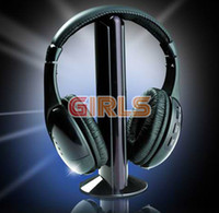 Wholesale Wireless Headset Headphone Tv - 5 in 1 HIFI Wireless headphone Earphone Headset wireless Monitor FM radio for MP4 PC TV audio