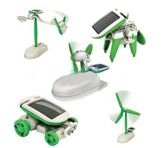 6 In 1 Solar Diy Educational Kit Toy Boat Fan Car Robot