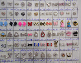 Wholesale Decorations Nails Flowers - Mini manicure Alloy Jewelry DIY Rhinestone Glitters Slices 3D nail art manicure 400+ designs bow