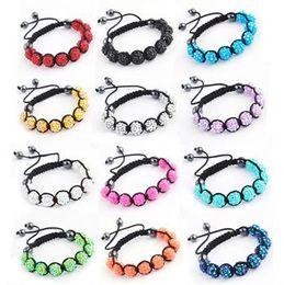 Wholesale Disco Ball Bracelets Resin - Hot 100pcs Handmade Macrame Disco Ball Resin Beads(9pcs)friendship Bracelet