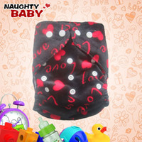 Wholesale Naughtybaby Cloth Diapers - New Lovely Naughtybaby cloth diaper reuseable nappy cover and insert M1 free shipping