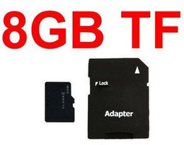 Wholesale Real Micro Sd Card 8gb - FREE DHL 8GB Micro SD Memory Card REAL 8 GB MicroSD HC TF Flash Cards w Adapter 50PCS