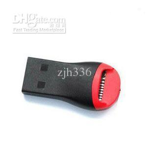 Wholesale Free Shipping 5 Pieces/Lot USB 2 in1 Memory Card Reader For Micro SD T-Flash TF M2
