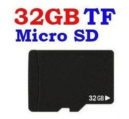 Wholesale 32gb Sdhc Memory Cards - Real 32GB Micro SD Memory Card Class 6 w Adapter authentic 32 GB MicroSD SDHC TF cards in box