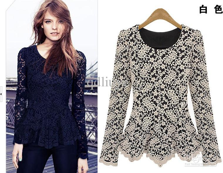 2019 2012 New Fashion Europe America Hot Sleeved Hollow Lstitching