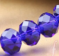 dunkelblaue armbänder großhandel-MIC Lot 900Pcs 6mm dunkelblau facettierten Kristall Rondelle Perlen lose Perlen passen Armbänder Halskette Schmuck DIY