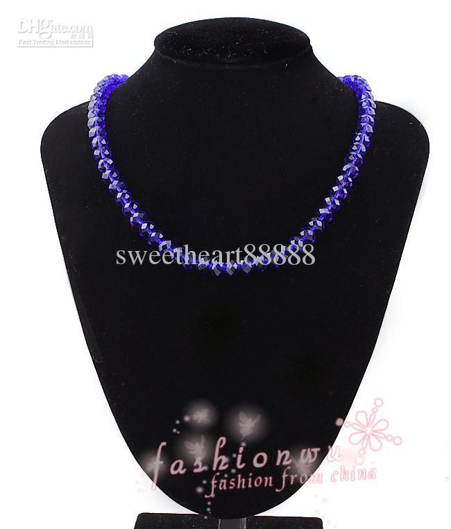 micro 6mm bleu foncé cristal de cristal rondelle perles perles lâches cordons de bracelets collier bijoux bricolage