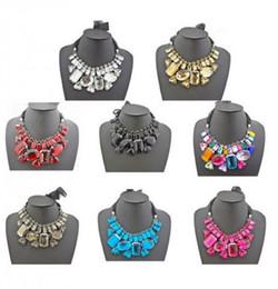 бриллиантовое жемчужное ожерелье Скидка Воротник нагрудник заявление ожерелье Лента роскошный большой горный хрусталь Кристалл mix цвет горячей продажи