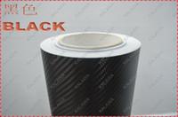 """Wholesale Pink Carbon Fiber - 1Roll Black 1.52*30M 10 color option (60*1181"""", 152*3000cm) 3D carbon fiber vinyl car wrap film-many color option"""