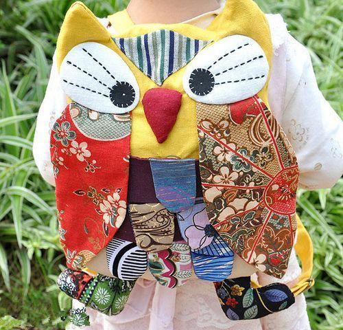 0 Noël Hibou Sac À Dos Sac Sacs D'école Bébé Sacs femmes Lady Fille Coloré hibou sac à dos portefeuilles 14 * 11CM