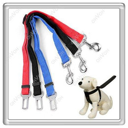 Wholesale Car Seat Belt Lock - S5Q Dog Pet Safety Seat Belt For Car Van Lock Adjustable Lead Restraint Chain AAAARY